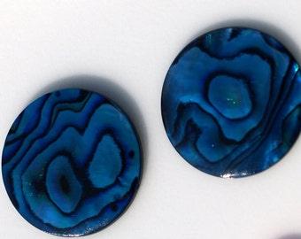5 pcs 18 mm Paua Abalone round cabochon Dyed Paua Abalone  180CB
