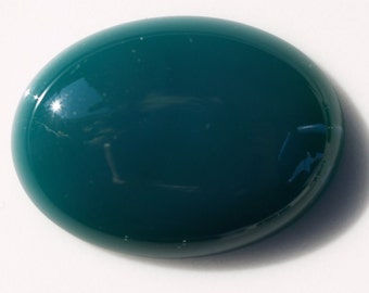 1 pc 22x30 mm dyed green agate oval cabochon