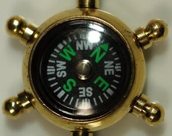 1 pc 38 mm Brass Whell Compass