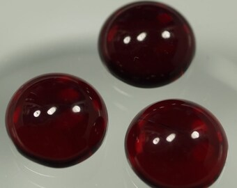 10 pcs 14 mm Red Chzech Glass Round Cabochons GR14  140CB