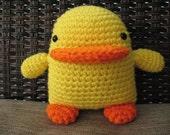 Crochet Duck, Bright Yellow Duck, Toddler Stuffed Animal, Plush Duck, Easter Amigurumi, Nursery Decor, Small Baby Shower Gift under 10
