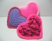 Plush Hearts, Crochet, Set of 3