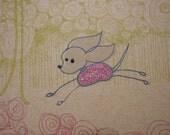 Chihuahua artwork glittered in pink
