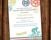 Cyclist Road Bike Party Invitation - Adult Cyclist - Bicycle - Retirement Party - Birthday Party