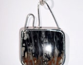 Picasso Marble in Sterling Silver Pendant