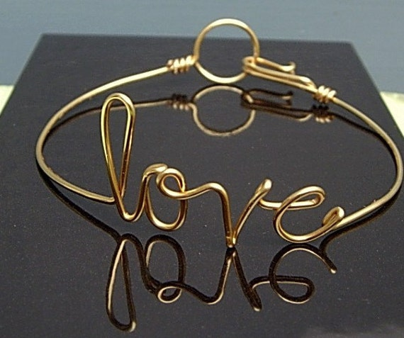 Personalized The Ones I Love Bracelet - Gold Love Bracelet Gold wire
