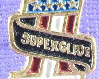 Harley Davidson Super Glide Gold Pin
