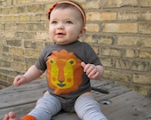 Liam the Lion 6 month Baby Onesie