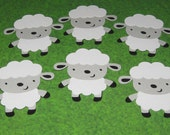 Country Farm / Barnyard Die Cuts - Lamb / Sheep - Set of 6