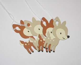 Woodland Animal / Woodland Creature - Deer / Fawn Gift Tags / Favor Tags - Set of 4