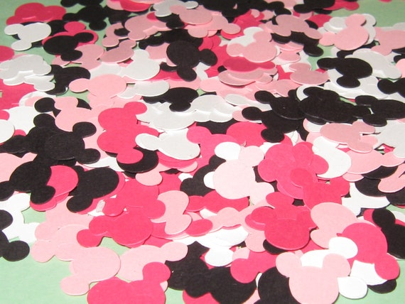 Minnie Mouse Inspired Paper Confetti/Die Cuts - 400 Pieces - Medium