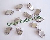 40 (20 pairs) Clip On Earrings 9 mm Pad