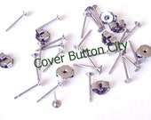 24 Surgical Stainless Steel 3mm Earring Posts and Backs - 11.7mm Long