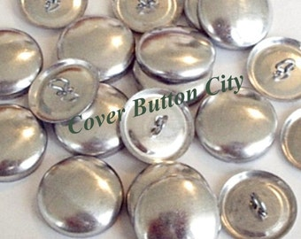 100 Cover Buttons Size 45 (1 1/8 inch) -  Wire Backs