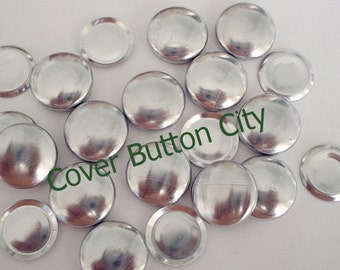 FLAT BACKS - 25 Size 20 (1/2 inch) Cover Buttons