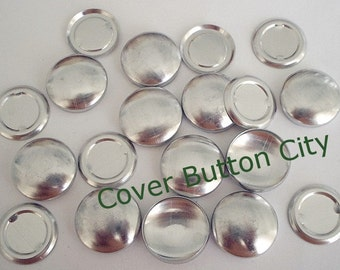 100 Size 30 (3/4 inch) Cover Buttons -Flat Backs