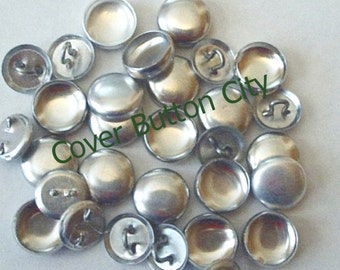 75 Cover Buttons Size 20 (1/2 inch) -  Wire Backs