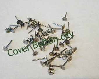 200 Stainless Steel 4mm Earring Posts and Backs - 10.4mm Long