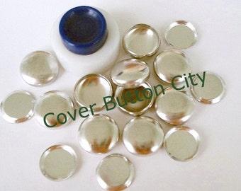Cover Button Starter Kit Size 24 (5/8 inch) Flat Backs