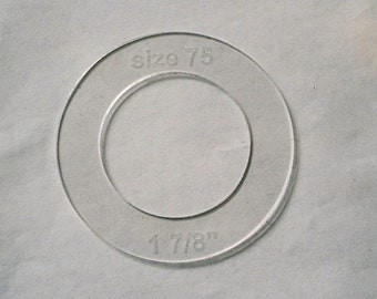 Size 75 (1 7/8 inch) Cover Button Template