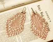 lace earrings -VERONICA- vintage blush