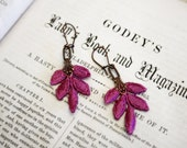 lace earrings -KELLY- pink violet