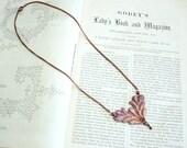 lace necklace -JANNA- ombre apricot mauve