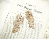 lace earrings -ANYA- vintage ecru