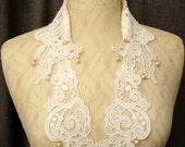 lace collar necklace -LOUISA- white ivory ecru