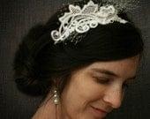 lace headband -GRETCHEN- vintage white