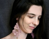 lace earrings -FELICIA- ombre mauve sparkle