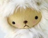 Kawaii Teddy Bear Plushie in Faux Snow Leopard Fur Large LEXIE