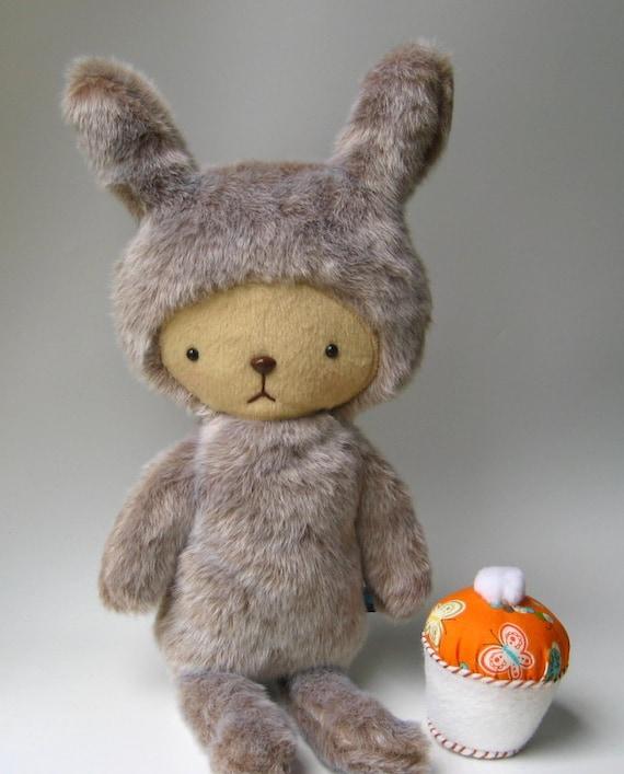 ASTRID Large Faux Beaver Fur Gumdrop Kawaii Bunny Plushie