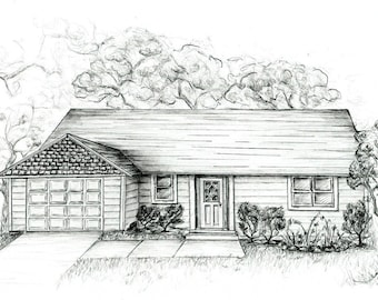 Custom Drawings of Your Home 8x10
