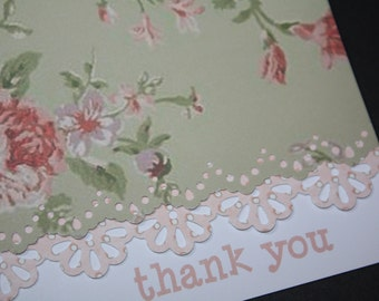 Personalized Floral Handcrafted Note Cards