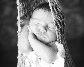 Hand Crocheted Infant Hanging Cocoon Photography Prop