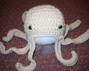 Hand Crocheted Octopus Hat Infant Baby Toddler Child Photography Prop Costume