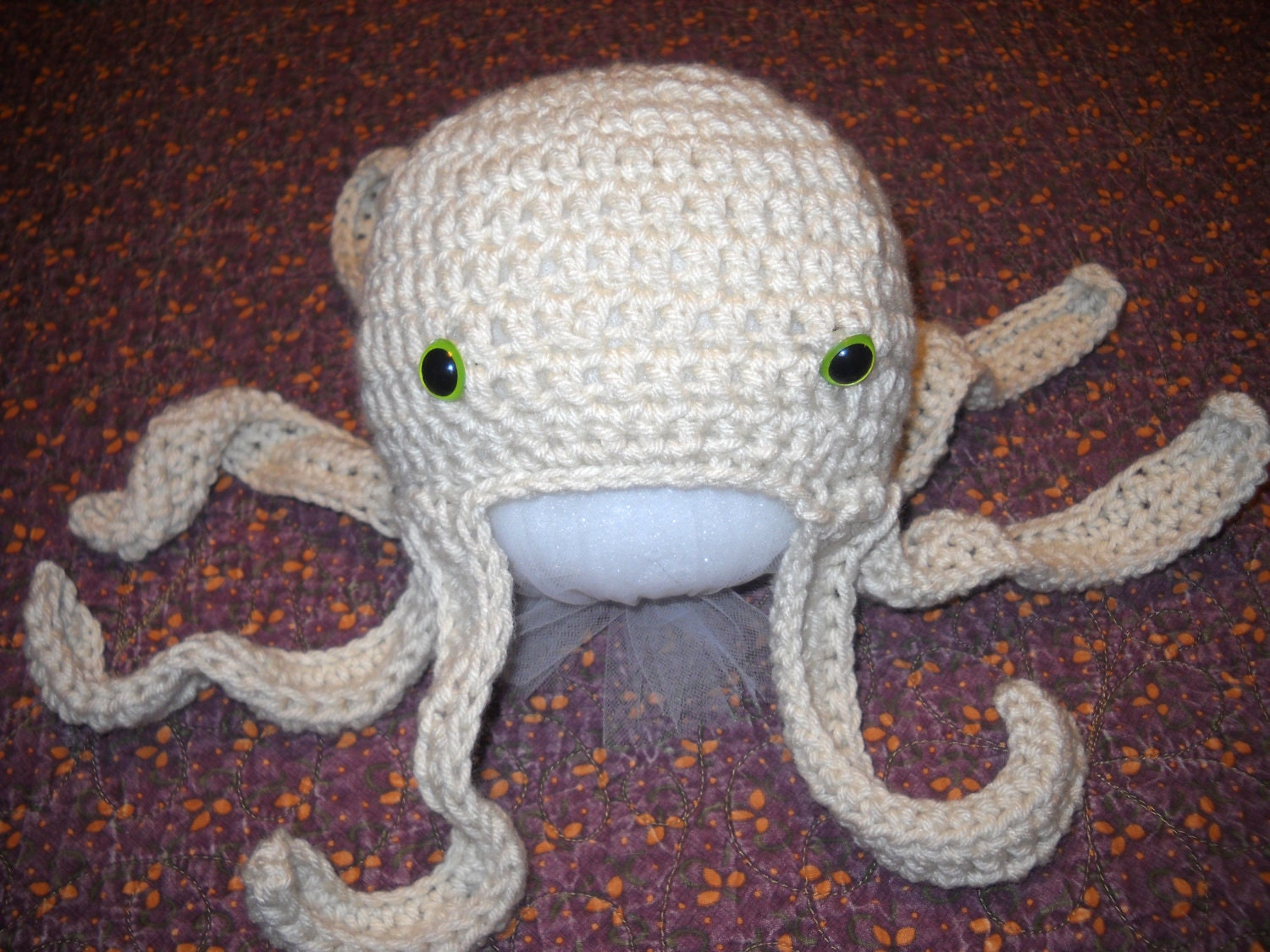 PDF Pattern Crocheted Octopus Hat Infant Baby by CrochetedinLove