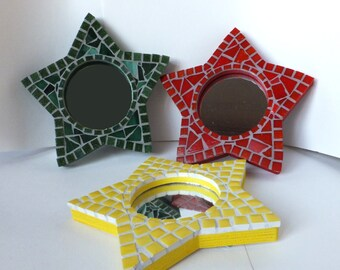 Star Mosaic Mirror, Custom Star Mirror, Custom Mosaic Mirror