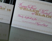 Wedding Invitations Suite you can customize with colors, pocket fold, backer card and embellishments