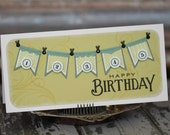 Happy Birthday with a banner