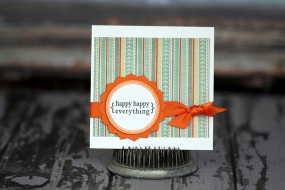 Gift card holder - Happy Happy Everything