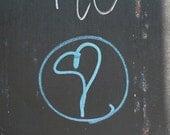 Blue Heart Graffiti, 5x5, photograph