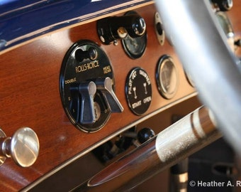1925 Silver Ghost Piccadilly Roadster Car Dash, photograph