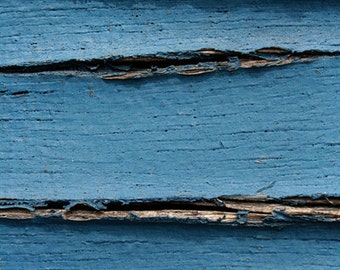 Blue Cracked Paint, Abstract Photograph