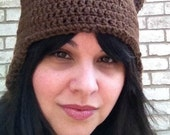 Crocheted Bear Hat for Adult - Custom Made