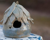 Fairy / Bird House made of stoneware clay and glazed