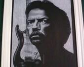 Eric Clapton Original Framed Portrait