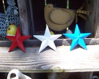 Cast Iron Red, White and Blue Stars