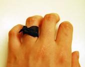 navy blue ribbon - ring